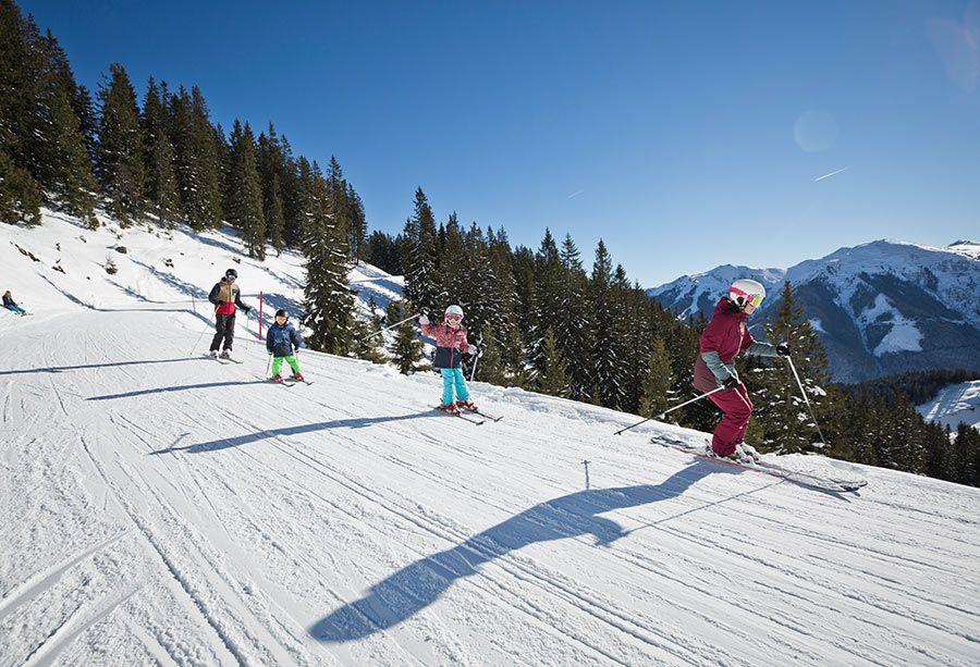 Skifahren in Saalbach